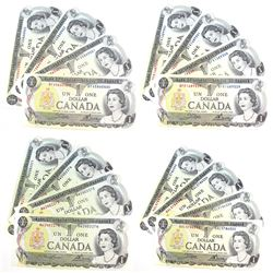 Consecutive 1973 Bank of Canada $1 Collection in Unc Condition. You will receive the following, Crow