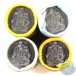 2012-2015 Canada 50-cent Original Rolls of 25pcs (2014 is torn). 4 rolls