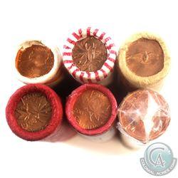 Estate Lot of 1967-2005 Canada 1-cent Original Rolls of 50pcs. You will receive 1967, 1968, 1978, un