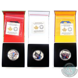 3x 2015 Canada $20 Superman Fine Silver Coins  (TAX Exempt) Iconic Superman: Action Comics #1 (2011)