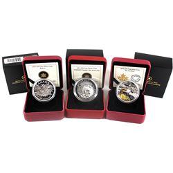 2013 & 2014 Canada $20 Fine Silver Coins - 2013 The Beaver, 2013 Untamed Canada - Arctic Fox & 2014