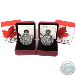 2013 Canada $25 O Canada - The Beaver & The Wolf. 2pcs (TAX Exempt)