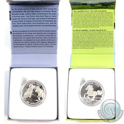 2014 Canada $100 Bighorn Sheep & 2015 $100 Canadian Horse Fine Silver Coins (Horse capsule lightly s