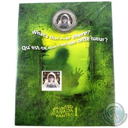 2014 Canada 25-cent Haunted Canada - Ghost Bride Cupronickel Coin and Stamp Set.