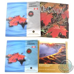 1997, 2005, 2007 & 2008 Oh Canada Gift Sets (2008 set is partly unglued). 4pcs