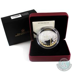 2011 Canada $25 Toronto City Map 2oz. Gold Plated Fine Silver Coin (Capsule has light scratches). (T