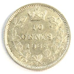 1883H Canada 10-cent Extra Fine. A nice semi key date coin.
