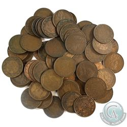 Group Lot of Canada Mixed George V Large Cents. 60pcs