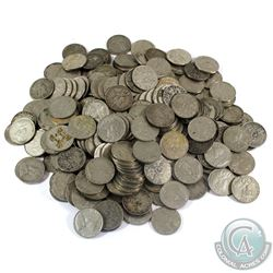 Group Lot of Approximately 230x Canada George V Nickels.