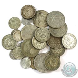 Lot of 28x Mixed Silver Coins from Australia. You will receive 146 grams total of silver coinage.