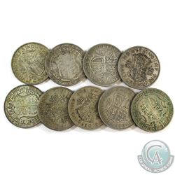 Lot of 9x Great Britain Half Crown Silver Coins. You will receive 129 grams total of silver coinage.