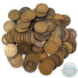 Group Lot of 100x Mixed Year Great Britain Pennies.