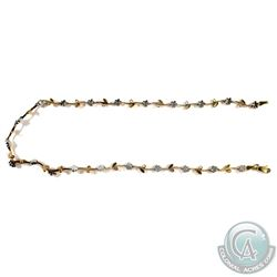 "Lady's 14K Yellow & White Gold Custom Floral Vine Designed Necklace.  Measures 15"" in length with Lo"