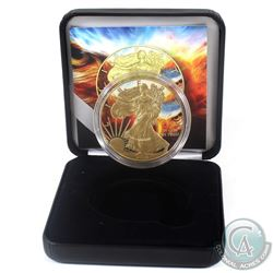 2018 United States $1 Gilt & Colourized Eagle Eye 1oz American Eagle (Tax Exempt) Comes with COA and