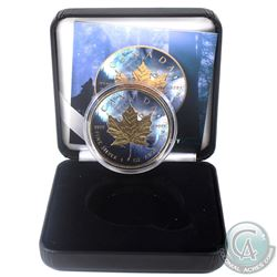 2018 Canada $5 Gilt & Colourized Wolf 1oz Fine Silver Maple (Tax Exempt) Comes with COA and display