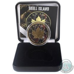 2018 Canada $5 Gilt & Colourized Skull Island 1oz Fine Silver Maple (Tax Exempt) Comes with COA and