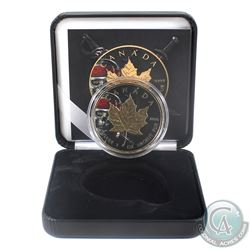 2018 Canada $5 Gilt & Colourized Pirate Skull 1oz Fine Silver Maple (Tax Exempt) Comes with COA and