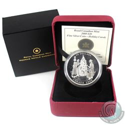 2008 Canada $20 Holiday Carols Fine Silver Coin (TAX Exempt)
