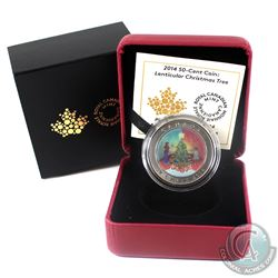 2014 Canada 50-cent Christmas Tree Cupronickel Lenticular Coin.