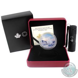 2018 Canada $30 Arctic Animals & Northern Lights - Snowy Owl Fine Silver Coin with Light (Tax Exempt