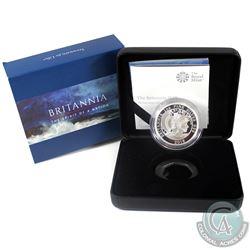 2018 United Kingdom 2-Pound The Britannia 1oz Fine Silver Proof Coin (Tax Exempt)