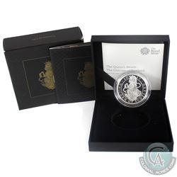2017 United Kingdom 2-Pound The Queens Beasts- Unicorn of Scotland 1oz Fine Silver Proof (Tax Exempt