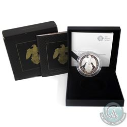 2019 United Kingdom 2-Pound The Queens Beasts- Falcon of the Plantagenet's 1oz Fine Silver Proof (Ta