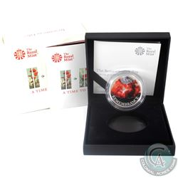 2018 United Kingdom 5-Pound Remembrance Day Silver Proof Coin. (Tax Exempt)