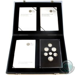 2008 United Kingdom Royal Shield of Arms 7-coin Silver Proof Collection. Please note coins are toned
