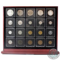1876-1984 20 Historic Coins of Canada Collection in Deluxe Display Case.