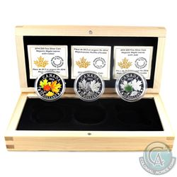 2014 Canada $20 Majestic Maple Leaves Fine Silver 3-Coin Set (Tax Exempt)
