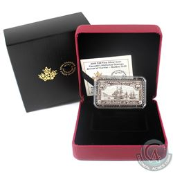 2019 $20 Canada's Historical Stamps: Arrival of Cartier - Quebec 1535 Silver (Tax Exempt)