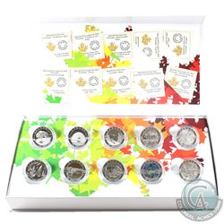 Complete 2014 O Canada $10 10-Coin Set with Deluxe Box (Tax Exempt)