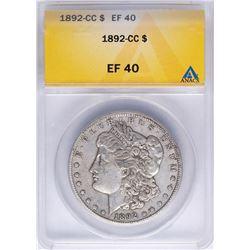 1892-CC $1 Morgan Silver Dollar Coin ANACS XF40