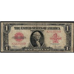 1923 $1 Legal Tender Note Red Seal