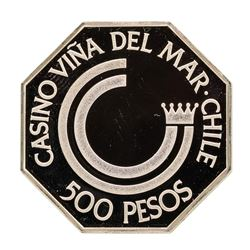 Casino Vina Del Mar Chille 13.6 gram .925 Sterling Silver Gaming Token