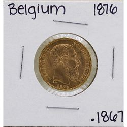 1876 Belgium Leopold 20 Francs Gold Coin