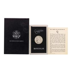 1884-CC $1 Morgan Silver Dollar Coin GSA w/ Box & COA
