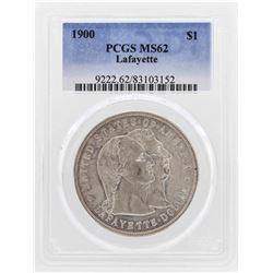 1900 $1 Lafayette Silver Dollar Coin PCGS MS62