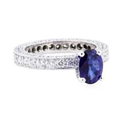 Platinum 3.08 ctw Sapphire and Diamond Ring