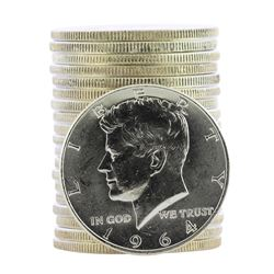 Roll of (20) 1964-D Brilliant Uncirculated Kennedy Half Dollar Coins