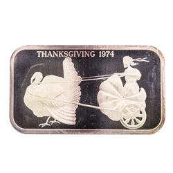 1974 Thanksgiving Madison Mint 1 oz .999 Fine Silver Art Bar