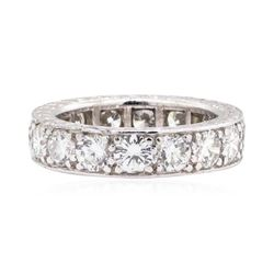 Platinum 3.80 ctw Diamond Eternity Ring