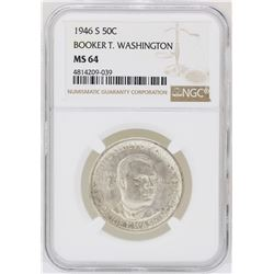 1946-S Booker T. Washington Memorial Half Dollar Coin NGC MS64