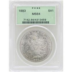 1883 $1 Morgan Silver Dollar Coin PCGS MS64