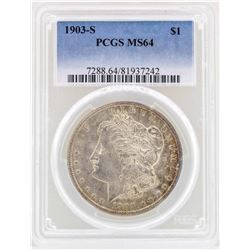 1903-S $1 Morgan Silver Dollar Coin PCGS MS64