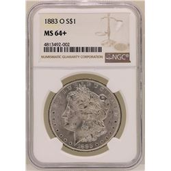 1883-O $1 Morgan Silver Dollar Coin NGC MS64+