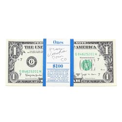 Pack of (100) Consecutive 1963B $1 Federal Reserve Notes