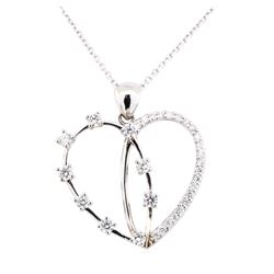 14KT White Gold 1.50 ctw Diamond Pendant & Chain