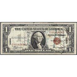 1935A $1 Silver Certificate WWII Emergency Hawaii Short Snorter Note